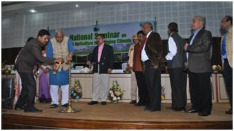 Governor of Tripura lighting inaugural lamp